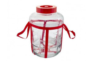 Банка стеклянная с гидрозатвором 18 литров