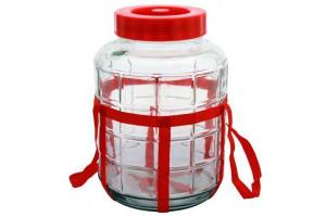 Банка стеклянная с гидрозатвором 9 литров